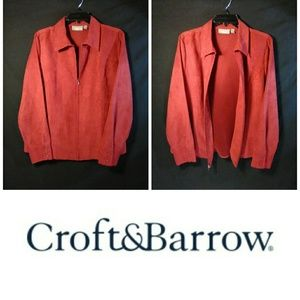 C&B🌹Red Button Down Blouse or Blazer